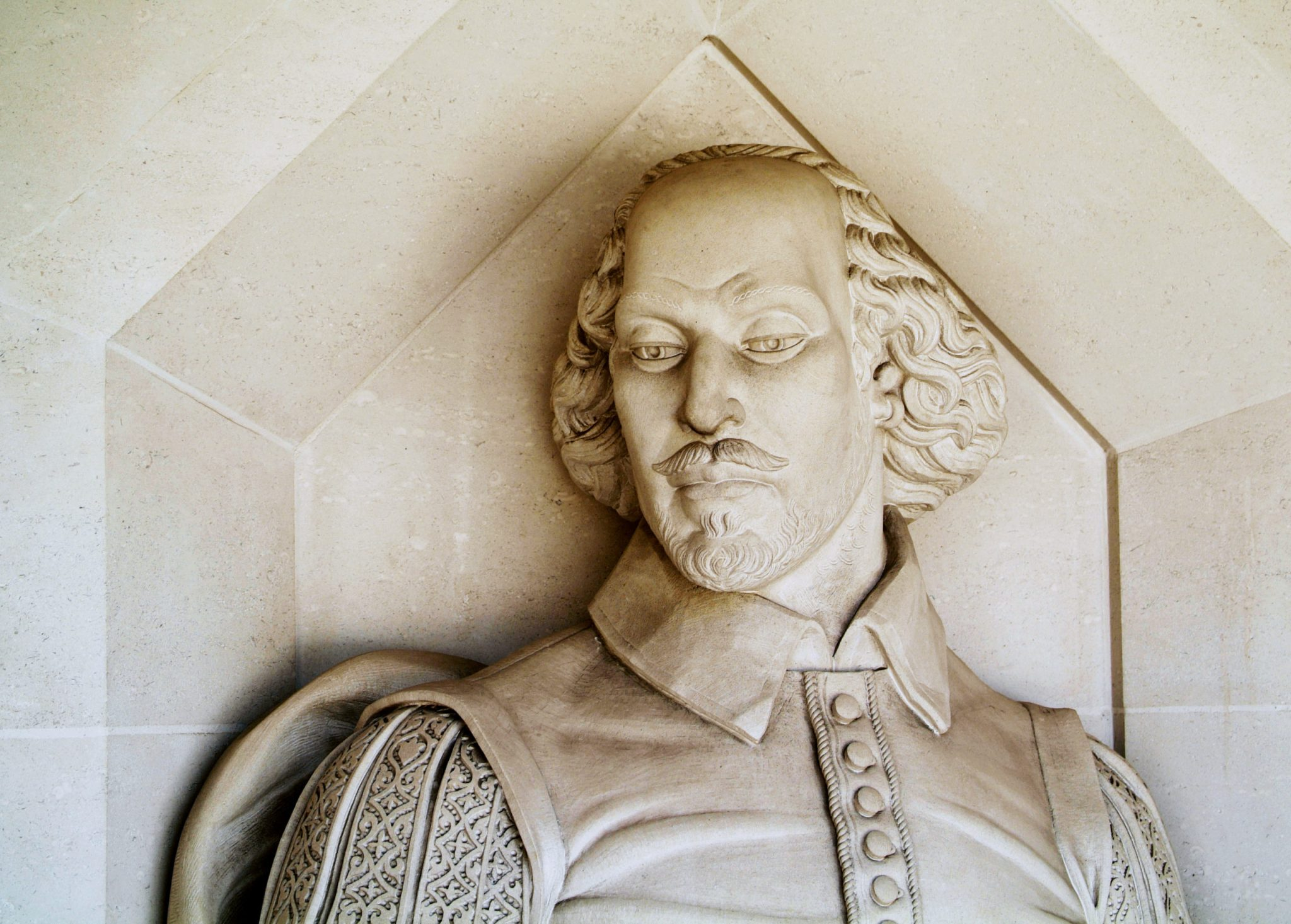 the Shakespeare monument