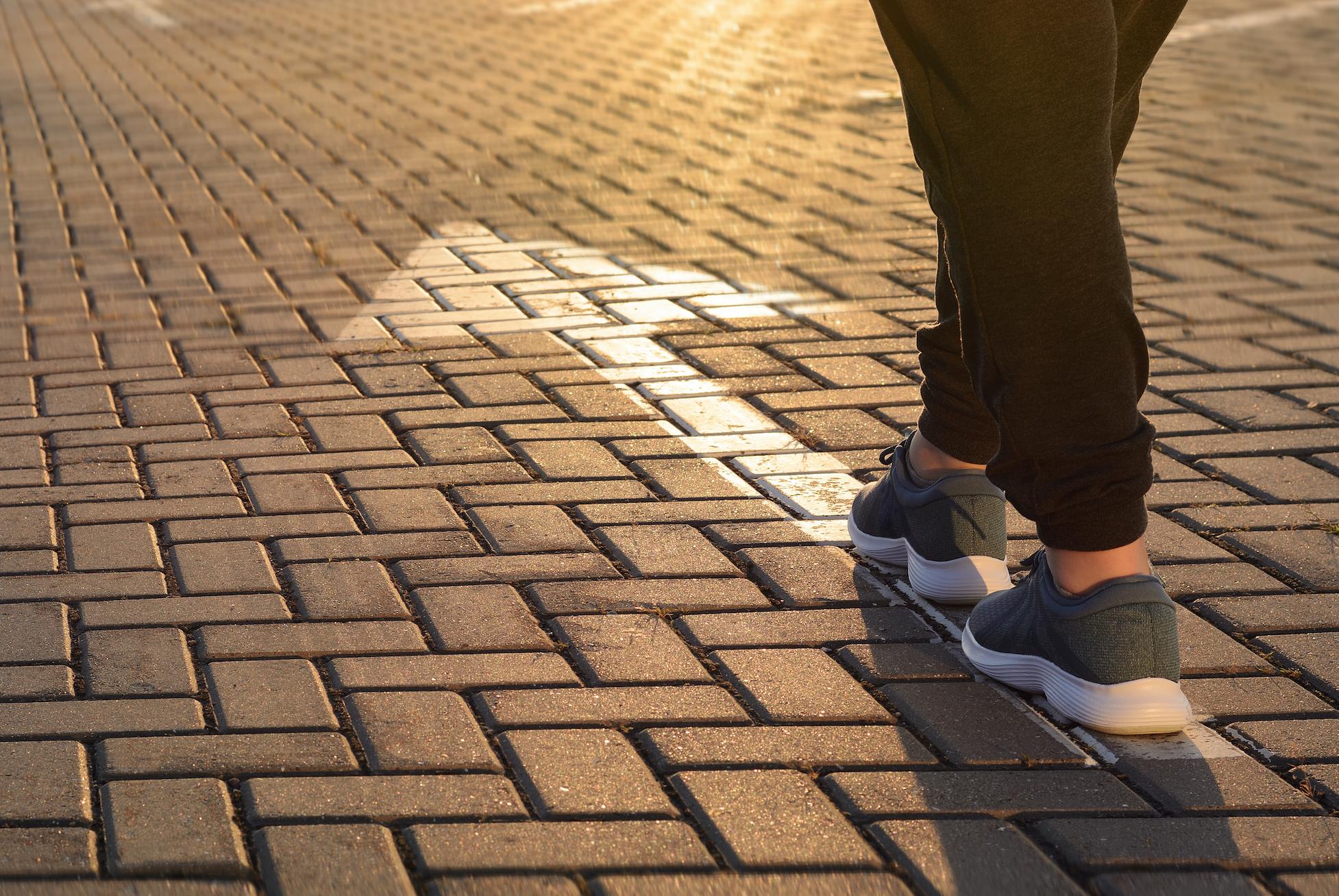 person walking forward