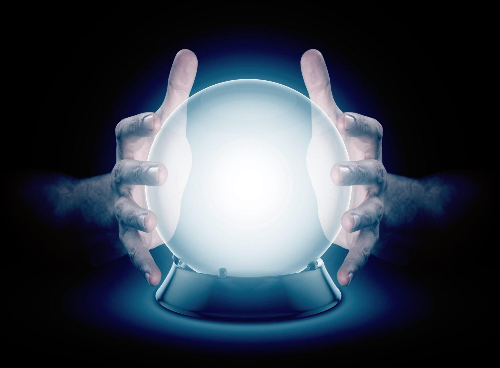 hands on crystal ball