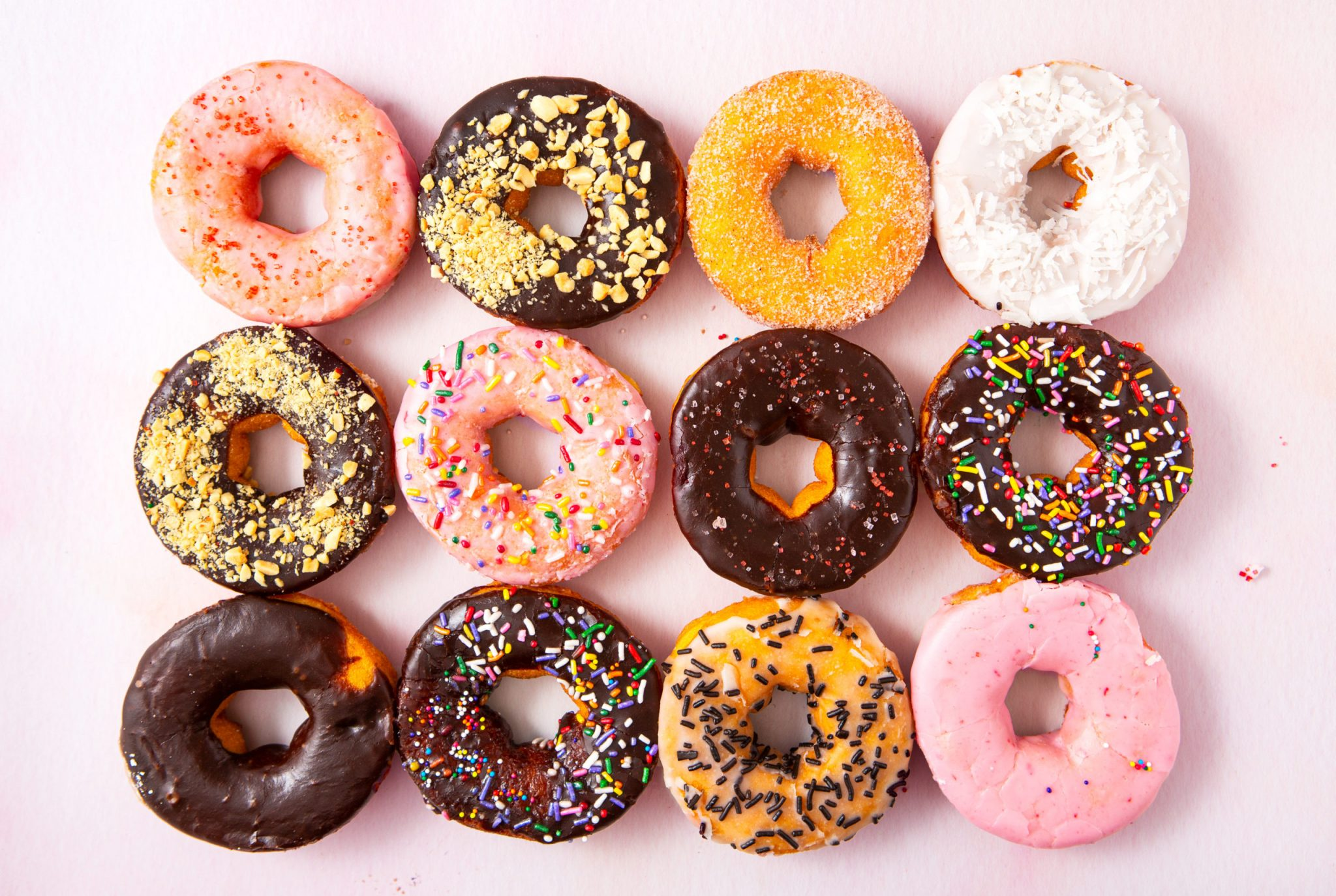 diverse assortment of doughnuts