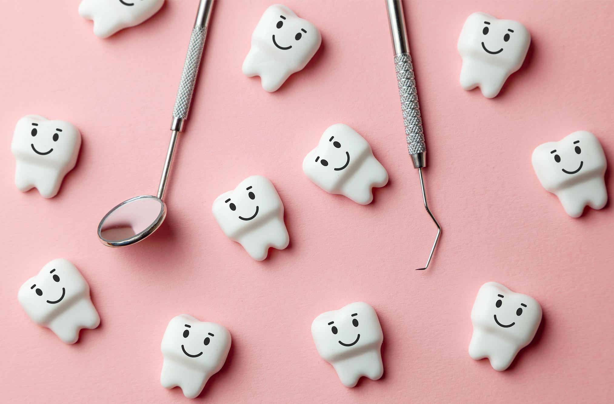 happy teeth at dentist office