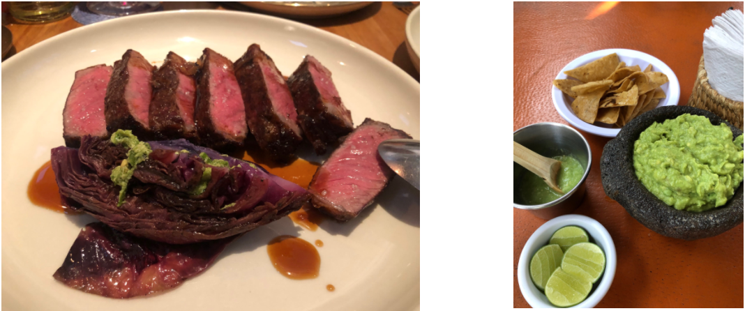 This Waygu was twice the price of what I have had in New Orleans, and twice as good! We also stopped for typical guacamole and green pepper sauce with lime.
